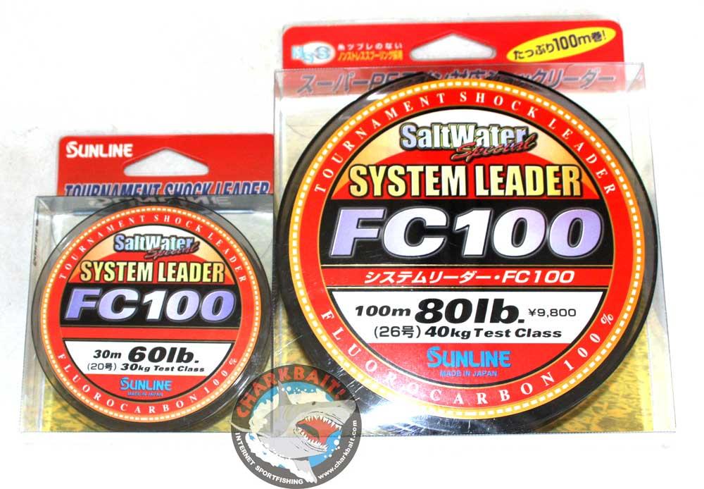 0917 Sunline System 100 Fluorocarbon Shock Leader Line 30m 80lb