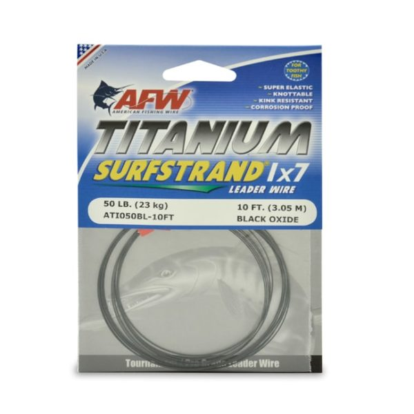 AFW TOOTH PROOF STAINLESS STEEL LEADER-Single Strand Wire-27LB Test 30FT BROWN