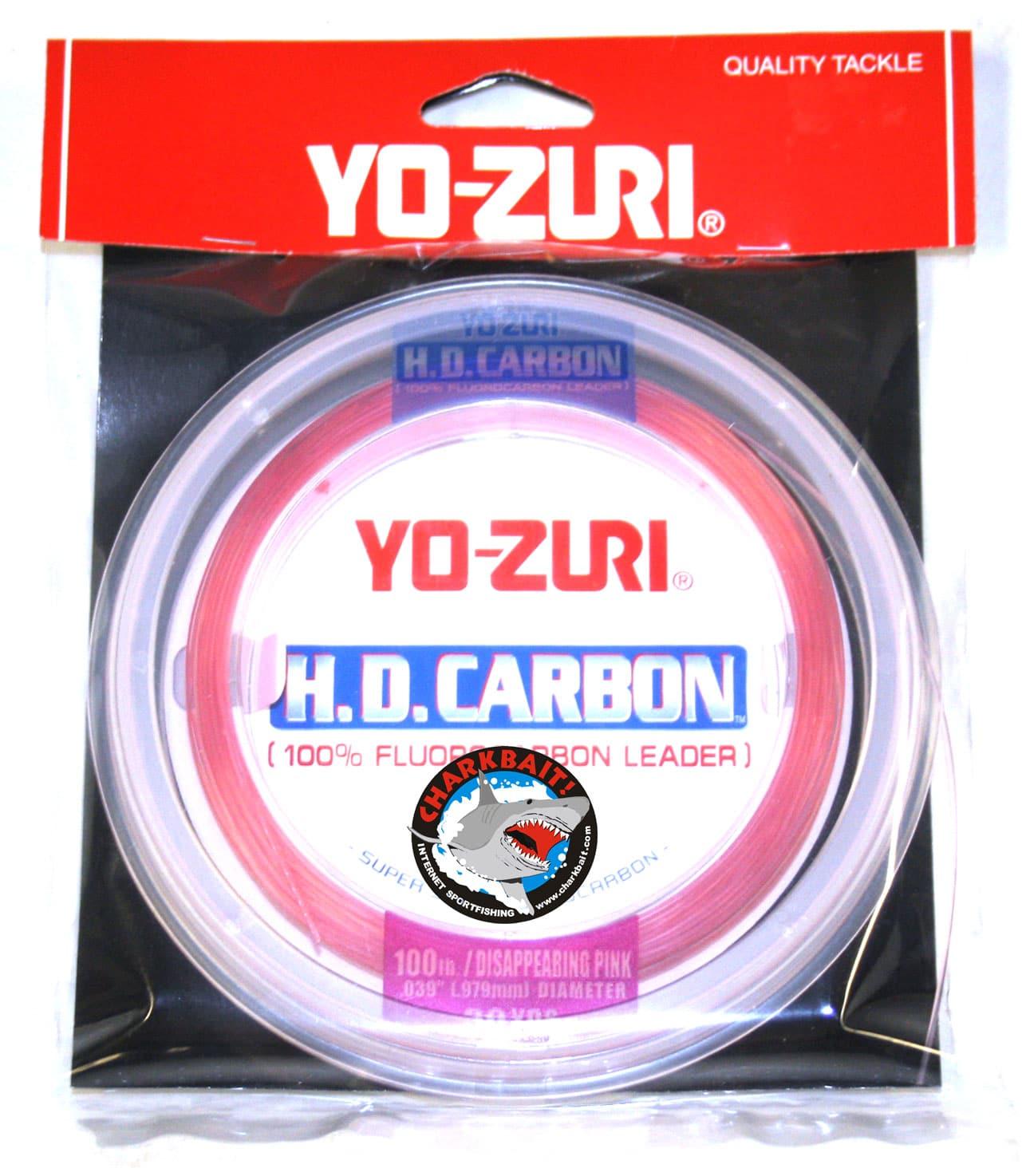 30 Yd environ 81.65 kg environ 27.43 m Yo-zuri HD CARBON disparaître Rose Fluorocarbone Chef Test 180 LB