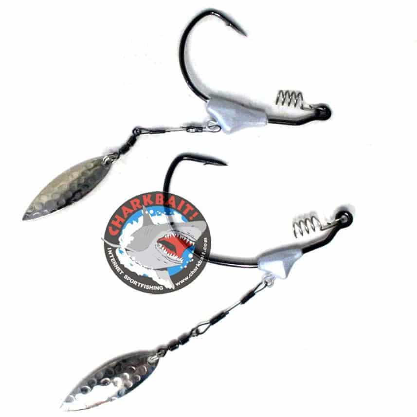 Trokar Swim Blade Swimbait Hook 2Pk 1//8Oz 5//0#3 Hammered Nickle Willow Blade ...